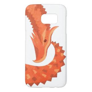Orange heart dragon on white samsung galaxy s7 case