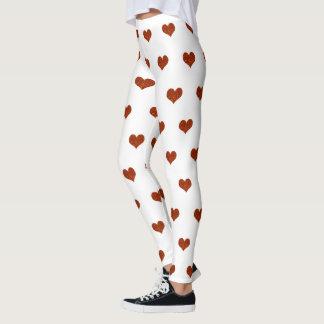 Orange Hearts Leggings