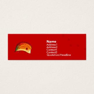 Orange Hedgehog Profile Card