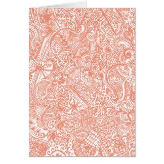 Orange Henna Greeting Card