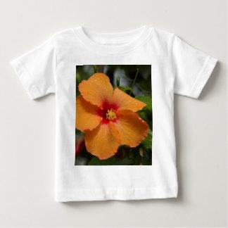Orange Hibiscus Baby T-Shirt