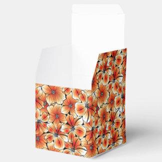 Orange hibiscus favor box