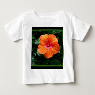 Orange Hibiscus Flower by Sharles Baby T-Shirt