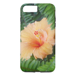 Orange Hibiscus Flower with Ferns iPhone 8 Plus/7 Plus Case
