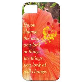 Orange Hibiscus iPhone 5 Case
