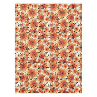Orange hibiscus tablecloth