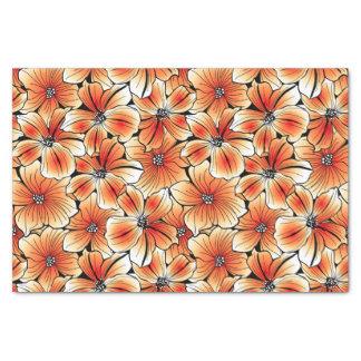 Orange hibiscus tissue paper