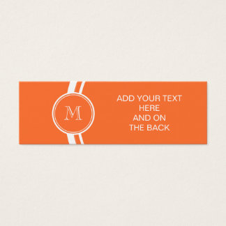 Orange High End Colored Monogrammed Mini Business Card