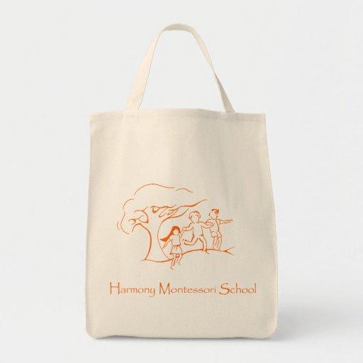 Orange HMS Logo Bag