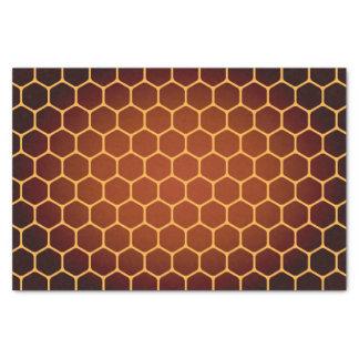 Orange honeycomb pattern tissue paper