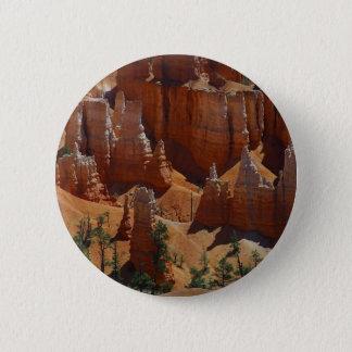 Orange Hoodoos Bryce Canyon Sand Deserts 2 Inch Round Button
