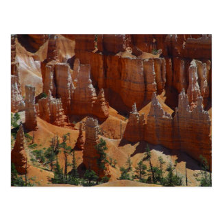 Orange Hoodoos Bryce Canyon Sand Deserts Postcard