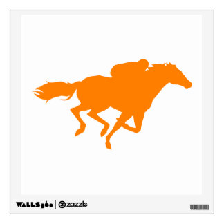 Orange Horse Racing Wall Decal