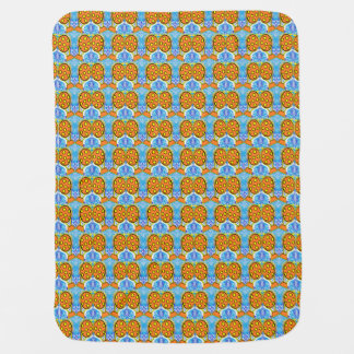 Orange Hotair Balloons with Yellow  Spots Baby Blanket