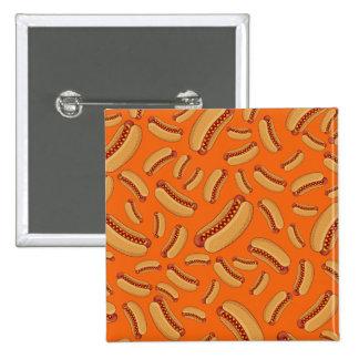 Orange hotdogs pin