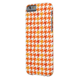 orange Houndstooth Pattern Barely There iPhone 6 Case