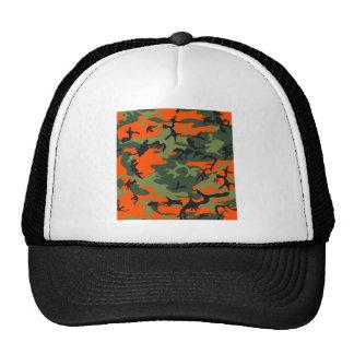 Orange Hunter Camo Hat