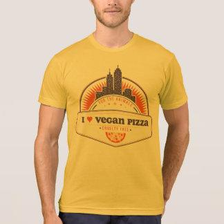 Orange I Heart Vegan Pizza T-shirt