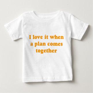 Orange I Love It Baby T-Shirt