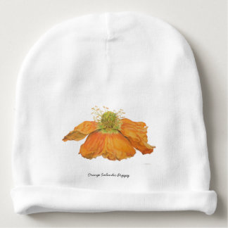 Orange Icelandic Poppy Baby Cap Baby Beanie
