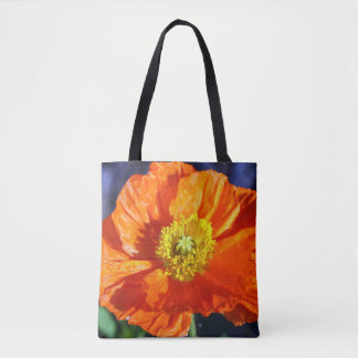 Orange Icelandic Poppy Tote Bag