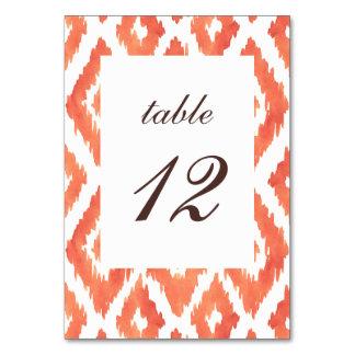 Orange Ikat Table Card