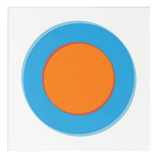 Orange In Blue Dot Acrylic Wall Art