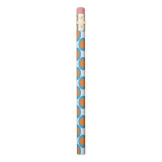Orange In Blue Dot Pencil