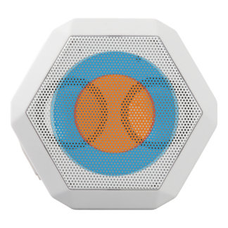 Orange In Blue Dot White Bluetooth Speaker