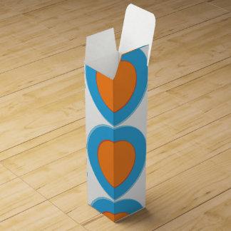 Orange In Blue Dot Wine Gift Box