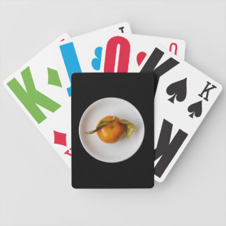 Orange in White Plate Fine Art Photograph Bicycle Playing Cards