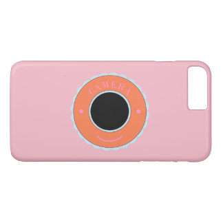 Orange individuality camera & smile iPhone 8 plus/7 plus case