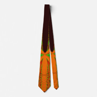 Orange insect Fractal Tie