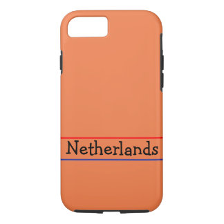 Orange iPhone 7 case with text