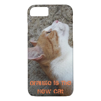 Orange Is The New Cat iPhone 8/7 Phone Case  Crazy