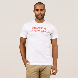 Orange is the new WHACK t-shirt - double line