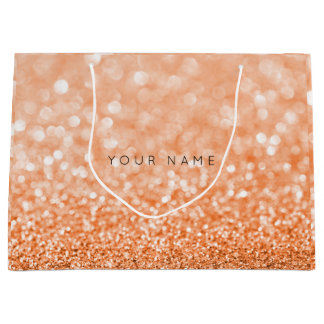 Orange Italy Candy Sun Glitter Favor Gift Bag