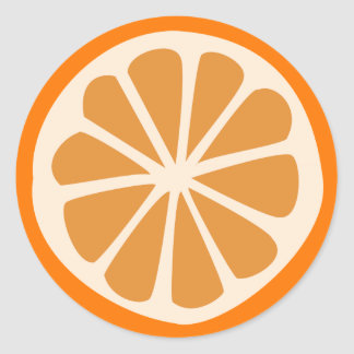 Orange J Classic Round Sticker