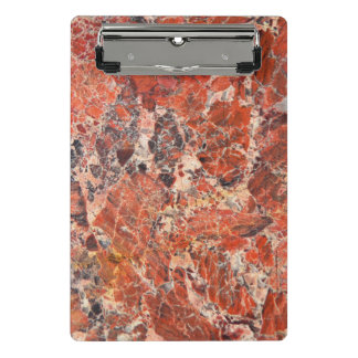 Orange Jasper Stone Pattern Mini Clipboard