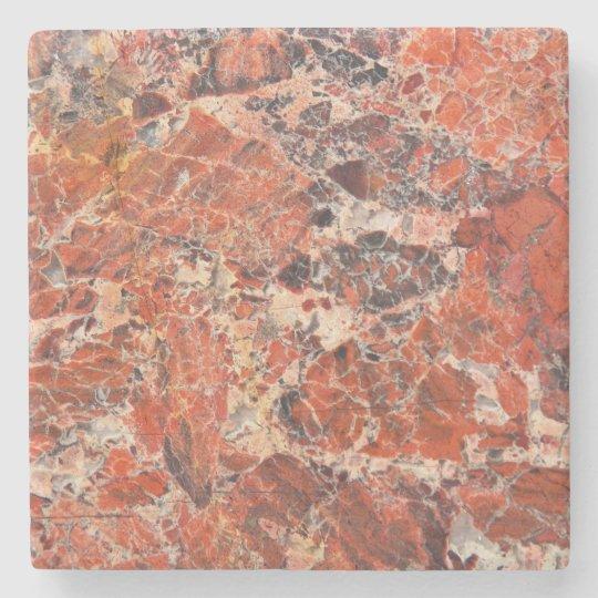 Orange Jasper Stone Pattern Stone Beverage Coaster