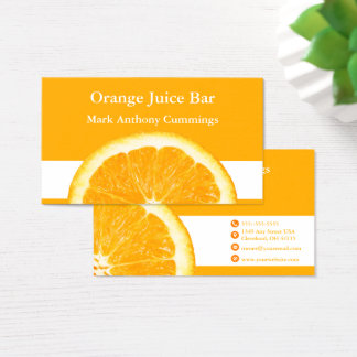 Orange Juice Bar Business Card