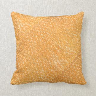Orange Juice Pop Bubble Wrap Soda Throw Pillow
