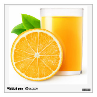 Orange juice wall sticker