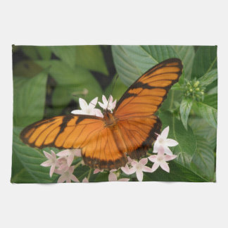Orange Julia Butterfly Kitchen Towel