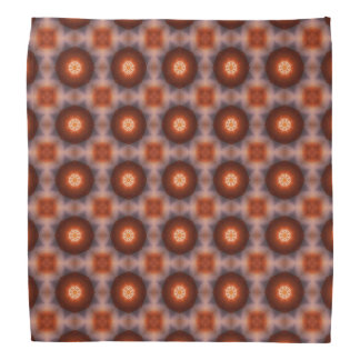 Orange Kaleidoscope Retro Pattern Bandana