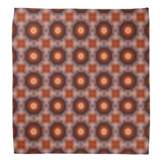 Orange Kaleidoscope Retro Pattern Kerchiefs
