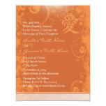 Orange Kanji Love Swirl Wedding Personalized Invites