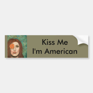 orange kiss bumper sticker