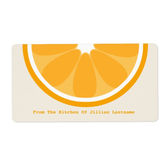 Orange Kitchen Label From The Kitchen Of Shipping Label