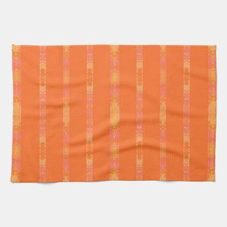 orange kitchen towel